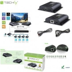 Extender / odbiornik HDMI Techly IDATA EXTIP-383R HDbitT po skrętce Cat.6/6a/7