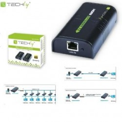 Extender / odbiornik HDMI Techly IDATA EXTIP-373R po skrętce Cat. 5e/6/6a/7 do 120m, over IP, czarny