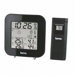 Stacja pogody Hama EWS-200, z czujnikiem zewnętrznym Czarna