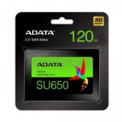 """Dysk SSD ADATA Ultimate SU650 120GB 2,5"""" SATA3 (520/320 MB/s) 7mm, 3D NAND / Black Retail"""