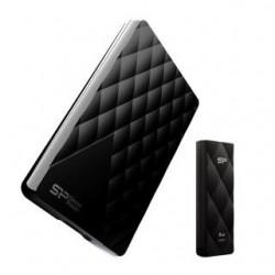 Dysk zewnętrzny Silicon Power Diamond D06 1TB Black USB 3.1 + Pendrive B20 8GB - gift pack