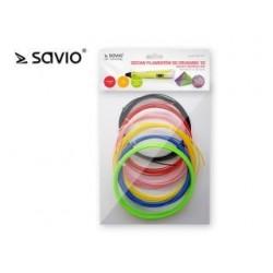 Zestaw filamentów do drukarek Savio DRP-041 3D | 6x3m | Full Color