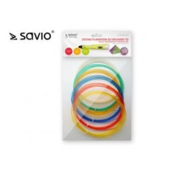Zestaw filamentów do drukarek Savio DRP-042 3D | 6x3m | Transparentne