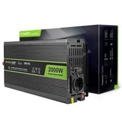 Przetwornica samochodowa Green Cell 12V do 220V, 2000W/4000W