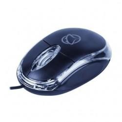 Mysz przewodowa Manta MM703N USB czarno-przeźroczysta