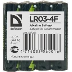 Baterie alkaliczne Defender LR03-4F in film AAA - 4 szt folia