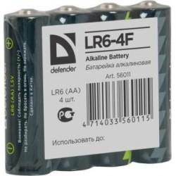 Baterie alkaliczne Defender LR6-4F in film AA - 4 szt folia