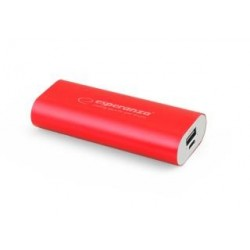 Powerbank Esperanza Hadron 4400mAh czerwony