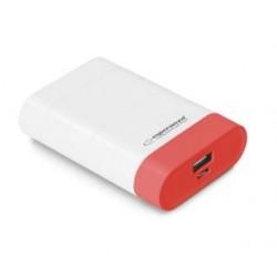 """Powerbank Esperanza 4800mAh """"Gravition"""" biało/czerwony"""