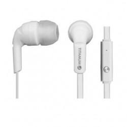 Słuchawki z mikrofonem Titanium douszne TH109W białe