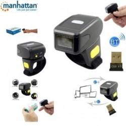 Skaner kodów kreskowych Manhattan IDATA CCD-RINGBT 1D Mini / Pierścieniowy, Laserowy