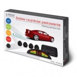 Czujnik parkowania, wyświetlacz ze wskazaniami dla każdego z czujników SAVIO CP-03/B, czarny