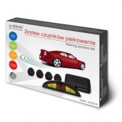 Czujnik parkowania, wyświetlacz ze wskazaniami dla każdego z czujników SAVIO CP-03/S, srebrny