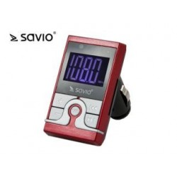 Transmiter FM Savio TR-08, 12V, ekran LED, Pilot