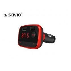 Transmiter samochodowy Savio TR-10 z funkcją Bluetooth + ładowarka 2A