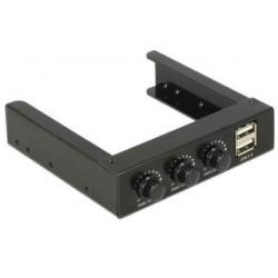 """Frontpanel Delock 3.5"""" 2x USB 2.0 + 3x kontroler obrotów wentylatorów"""