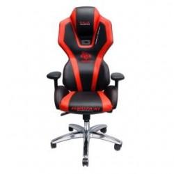 Fotel Gaming E-Blue Auroza - czarno-czerwony
