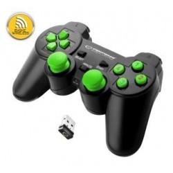 """Gamepad bezprzewodowy 2.4GHZ PS3/PC USB Esperanza """"Gladiator"""" czarno/zielony"""