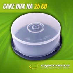 Pudełko Cake Box Esperanza na 25 CD - PAKOWANE W WOREK