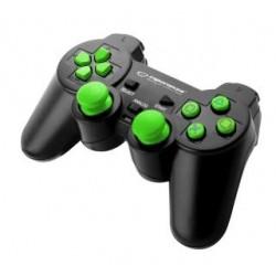 "Gamepad PS3/PC USB Esperanza ""Trooper"" czarno/zielony"