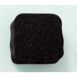 Gąbka z magnesem NAGA 5x5 do tablic szklanych czarna