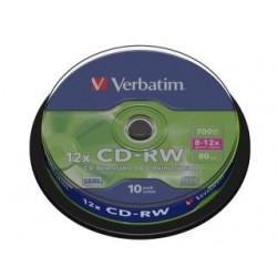 CD-RW Verbatim 700MB Scratch Resistant X12 (Cake 10)