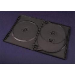 Pudełko Esperanza na 4 DVD 14mm - z Tray'ą 3091 czarne