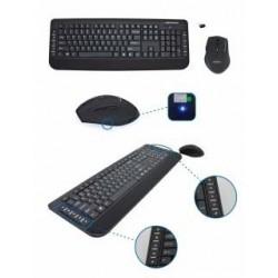 Zestaw bezprzewodowy klawiatura + mysz Esperanza USB czarny