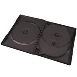 Pudełko Esperanza na 4 DVD z tray 14 mm 3091 czarne