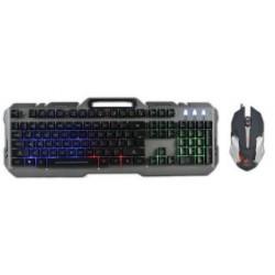 Zestaw przewodowy klawiatura + mysz Rebeltec INTERCEPTOR Gaming USB szary metal