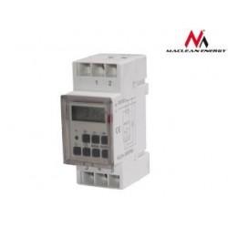 Timer cyfrowy Maclean MCE09 na szynę DIN 10 programów 3600W max 156 programów