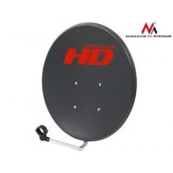 Antena satelitarna Maclean MCTV-765 ocynk grafit 65cm
