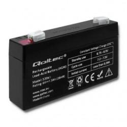 Akumulator AGM Qoltec | 6V | 1.3Ah | max.0.39A