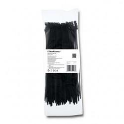 Opaska zaciskowa Qoltec | 3,6*200 | 100szt | nylon UV | Czarna