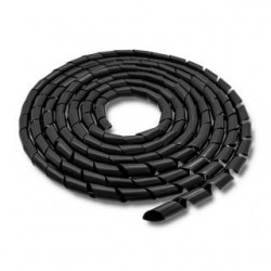 Organizer do kabli Qoltec 6mm | 10m | Czarny
