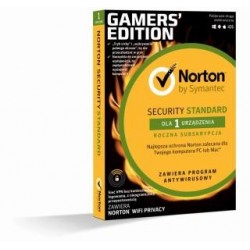 Oprogramowanie NORTON SECURITY STANDARD 3.0 PL + Wi-Fi Privacy 1 USER 1 DEVICE 12MO GAMERS' EDITION