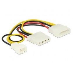 Kabel rozdzielacz zasilania Delock 4-pin M - 4-pin F + 3-pin M (Fan)