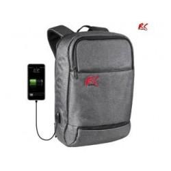 Plecak antykradzieżowy NanoRS RS915 S laptop 15,6 tablet, port USB do ładowania telefonu, szary