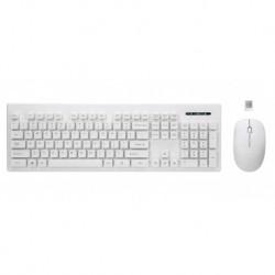Zestaw bezprzewodowy klawiatura + mysz Rebeltec WHITERUN biały kolor