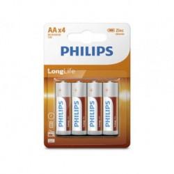 Bateria Philips R6 AA LongLife (cynkowo-chlorkowa) (4szt blister)