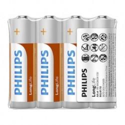 Bateria Philips R6 AA LongLife (cynkowo-chlorkowa) (4szt folia)