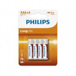Bateria Philips R03 AAA LongLife (cynkowo-chlorkowa) (4szt blister)