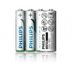 Bateria Philips R03 AAA LongLife (cynkowo-chlorkowa) (4szt folia)