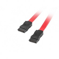 Kabel SATA Lanberg DATA III (6Gb/s) F/F 0,7m czerwony
