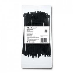 Opaska zaciskowa Qoltec | 3,6*150 | 100szt | nylon UV | Czarna