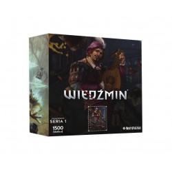 """Puzzle 1500 szt. Bohaterowie Wiedźmina - Seria I """"Jaskier"""""""