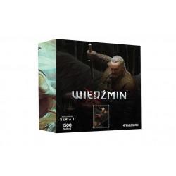 """Puzzle 1500 szt. Bohaterowie Wiedźmina - Seria I """"Vesemir"""""""