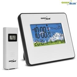 Stacja pogody bezprzewodowa GreenBlue GB147W temperatura, wilgotność, fazy księżyca, biała