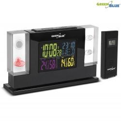 Stacja pogody bezprzewodowa GreenBlue GB140 DCF, ładowarka, 3D Crystal ,czarna