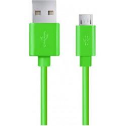 Kabel USB Esperanza Micro USB 2.0 A-B M/M 1,0m zielony